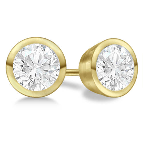 stud diamond round earrings white classic carat gold whitegold in view yellow