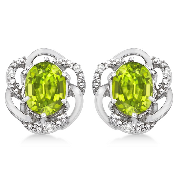 studs prong stone peridot sterling earrings il round market silver etsy