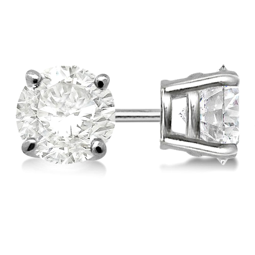 Allurez 4.00ct. 4-Prong Basket Diamond Stud Earrings 14kt White Gold (H-I, SI2-SI3) at Sears.com