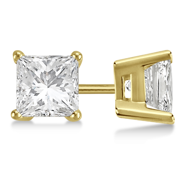Allurez 3.00ct. Princess Diamond Stud Earrings 14kt Yellow Gold (H, SI1-SI2) at Sears.com