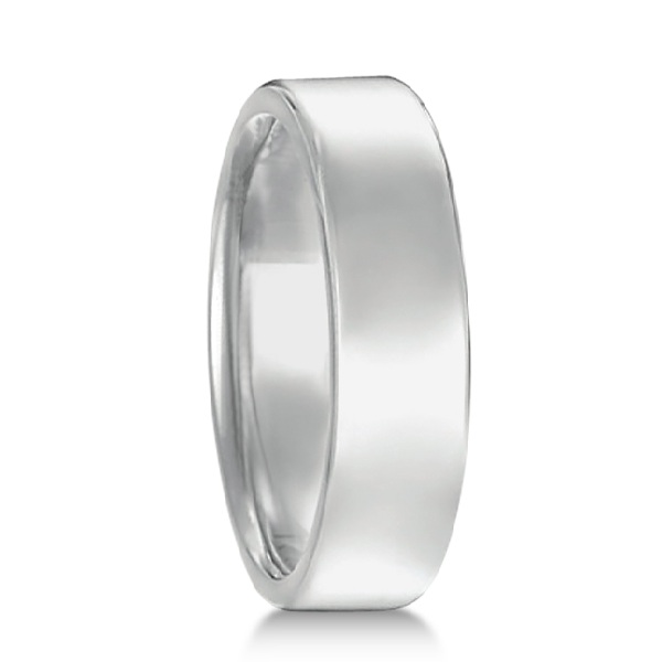 Allurez Euro Dome Comfort Fit Wedding Ring Men's Band in ...