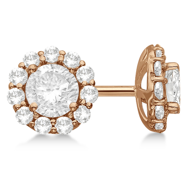 Allurez 1.50ct. Halo Diamond Stud Earrings 14kt Rose Gold (H, SI1-SI2) at Sears.com