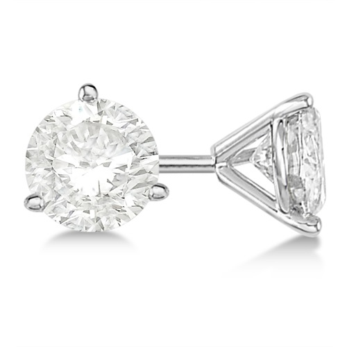 Allurez 0.50ct. 3-Prong Martini Diamond Stud Earrings 14k...