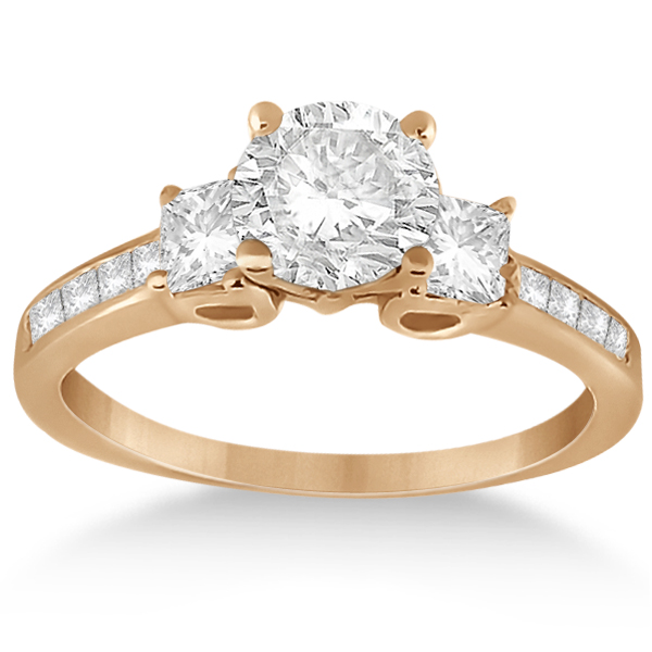 Allurez Three-Stone Princess Cut Diamond Engagement Ring ...