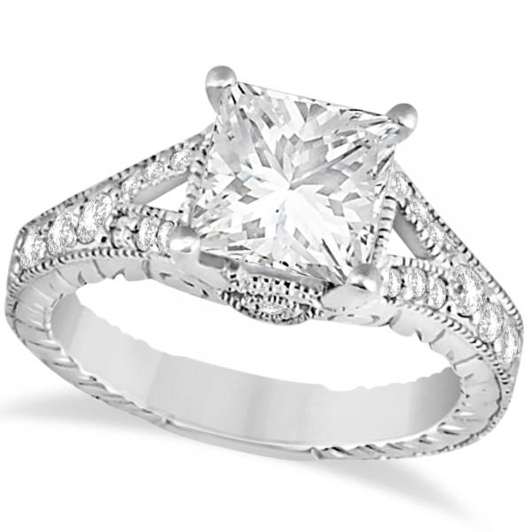 lindsey square ring engagement product halo white rings diamond princess gold gabriel cut