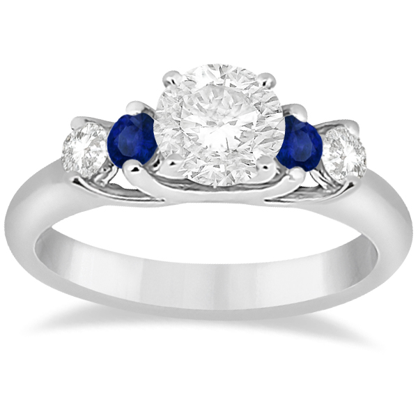 diamond stone rings rnd engagement stg sapphire item blue ring princess w three shaped white gold bands