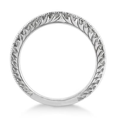 Solitaire Engagement Ring & Wedding Band Bridal Set Platinum