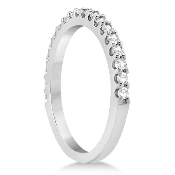 Halo Diamond Engagement Ring & Band Bridal Set 14K White Gold (1.12ct)