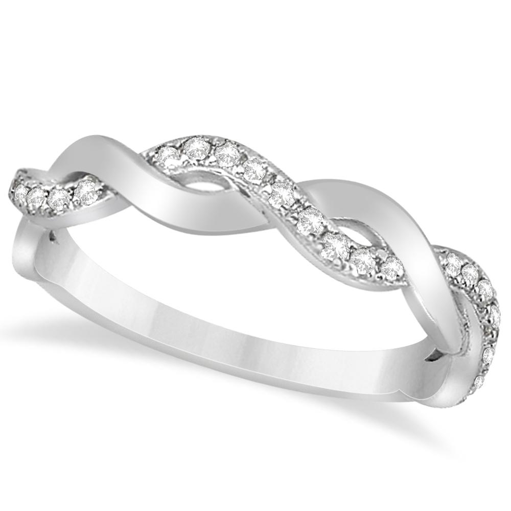 710e3d890f617 Diamond Twisted Infinity Wedding Ring Band 14k White Gold (0.26ct)