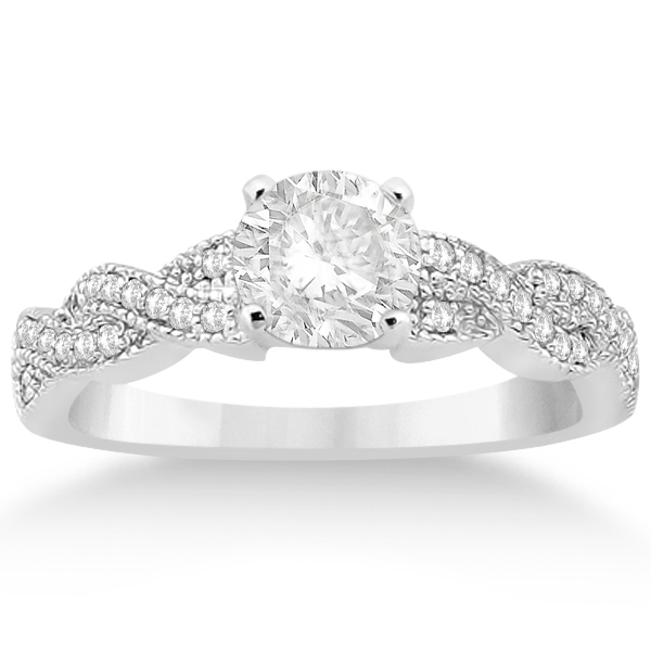 Infinity Twisted Diamond Engagement Ring in Palladium (0.25ct)