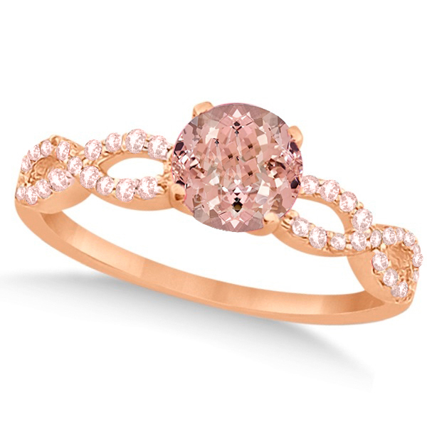 Allurez Diamond and Morganite Infinity Engagement Ring 14...
