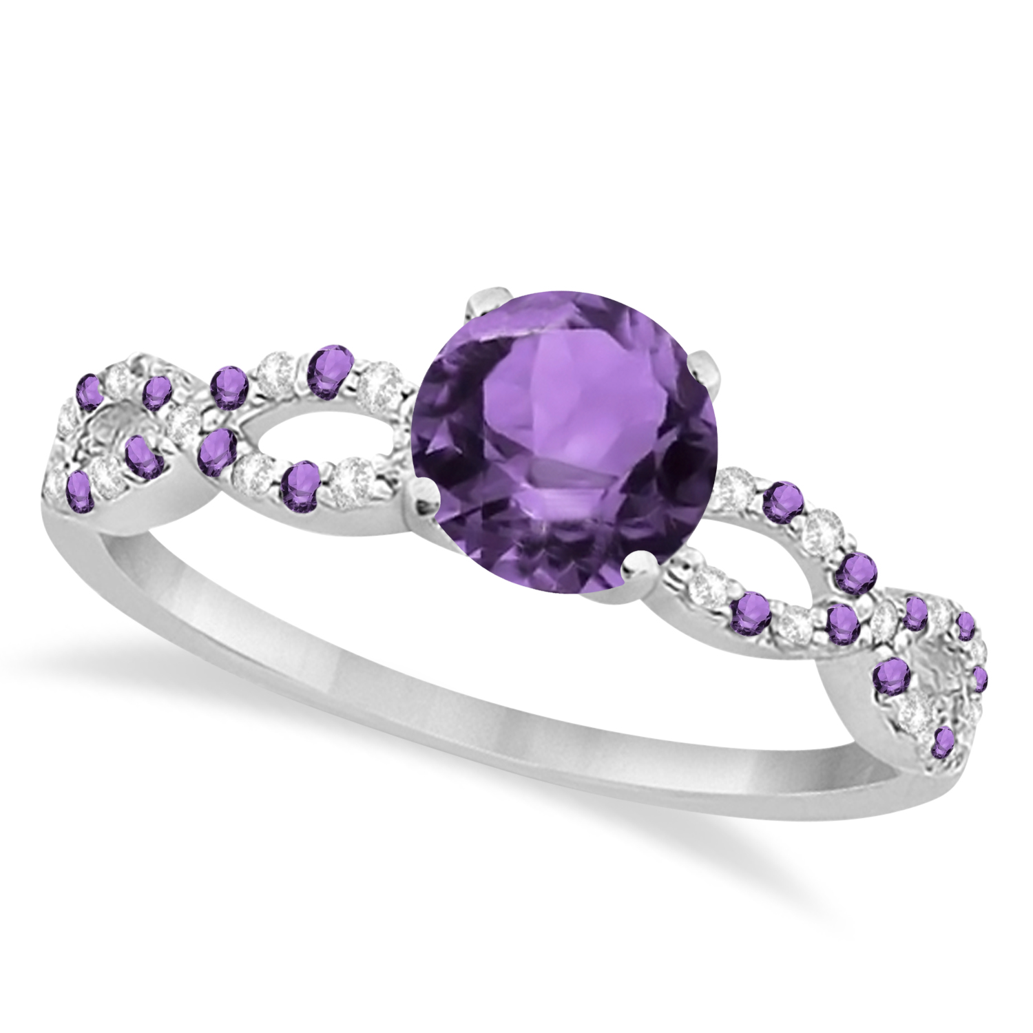 purple amathyst amethyst ring shop unique rings diamond vidar alternating wedding set engagement