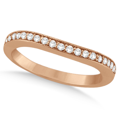 Butterfly Morganite & Diamond Bridal Set 14k Rose Gold 1.50ct