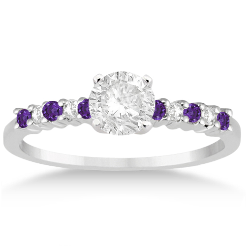 custom ring and sapphire amathyst amethyst engagement rings pink