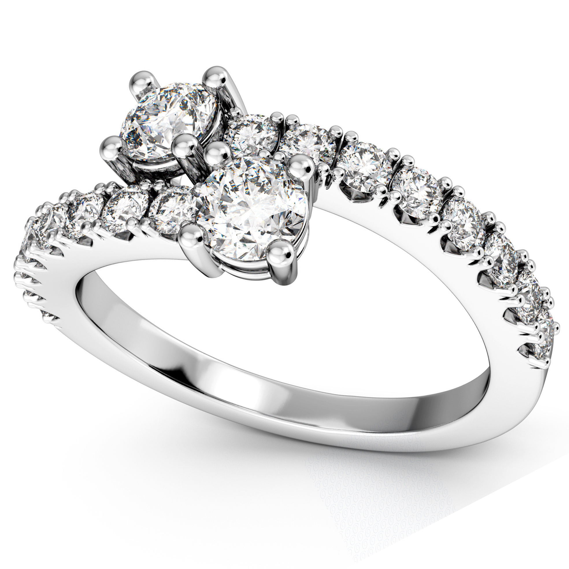 style engagement s ring b platinum designers rings princess pave michael sided colored design wedding three stone
