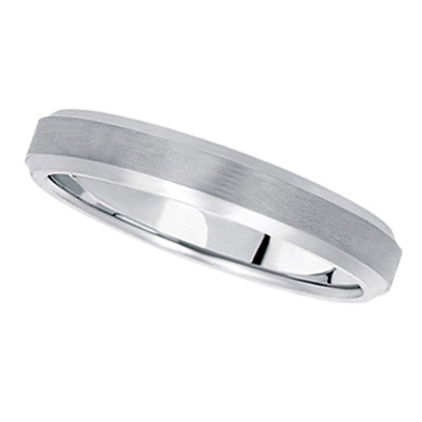 Comfort-Fit Carved Wedding Band in Palladium (4mm)