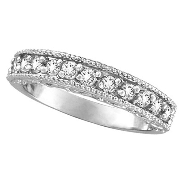 Allurez Diamond Wedding Ring Band Filigree Milgrain Edged Palladium (0.45ct) at Sears.com