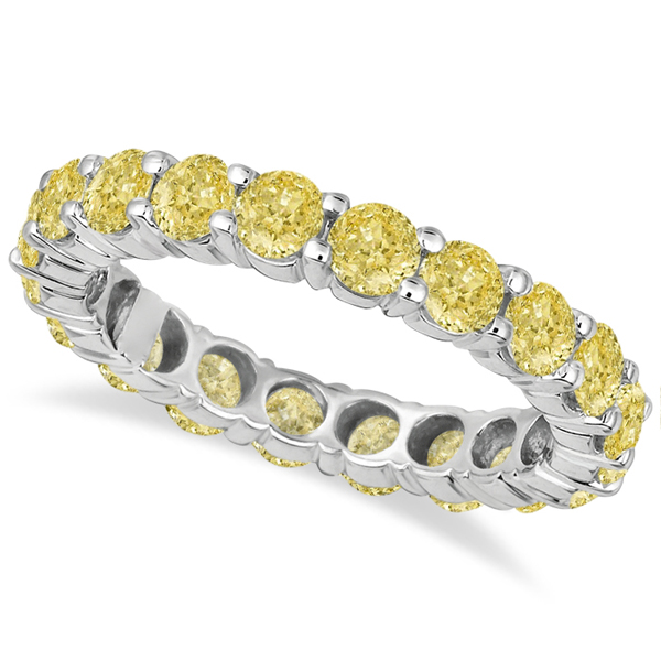 3dc356774b Fancy Canary Yellow Diamond Eternity Ring Band 18k White Gold (3.00ct)