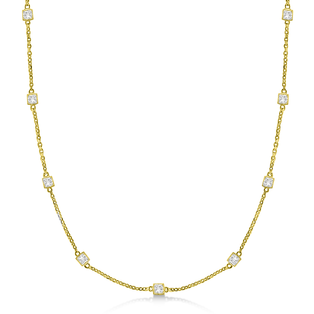 double diamond pendant princess cut products gold bail mirabess in white pendent necklace solitaire