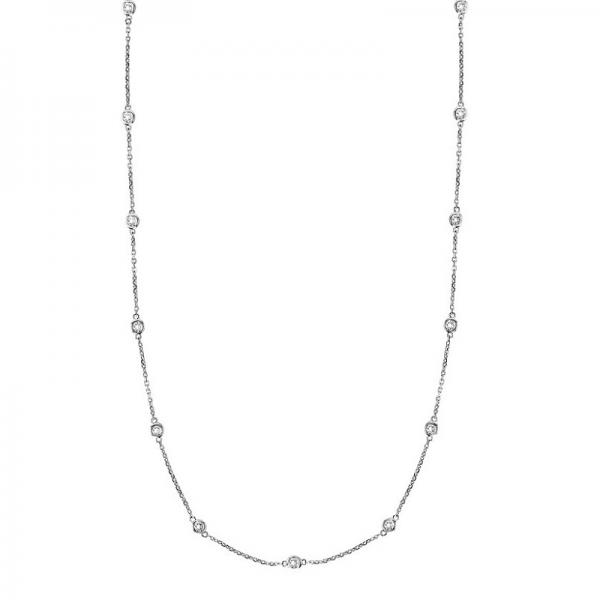36 inch Diamonds by The Yard Station Necklace 14k White Gold (0.66ct)