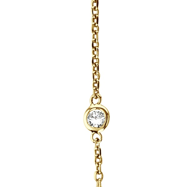 Diamonds by The Yard Bezel-Set Necklace in 14k Yellow Gold (0.33 ctw)