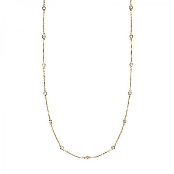 Allurez 36 inch Diamonds by The Yard Station Necklace 14k...