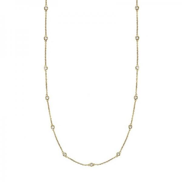Allurez 36 inch Diamonds by The Yard Station Necklace 14k Yellow Gold (1.50ct) at Sears.com