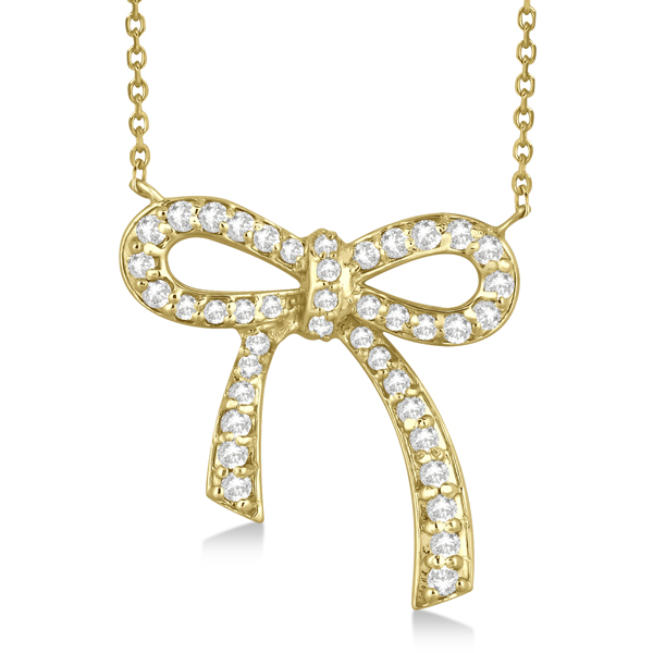 Allurez Modern Diamond Bow Tie Necklace 14K Yellow Gold (0.50ct) at Sears.com