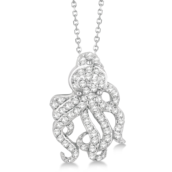 Allurez 14kt White Gold Diamond Vintage Pendant - 16 Inches EgTjz