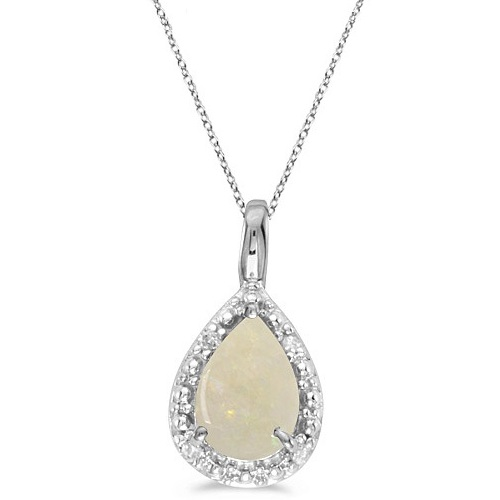 Pear shaped opal pendant necklace 14k white gold 085ct cbp228 pear shaped opal pendant necklace 14k white gold 085ct aloadofball Gallery