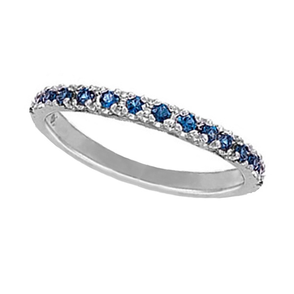 Allurez Blue Sapphire Stackable Ring Anniversary Band in ...