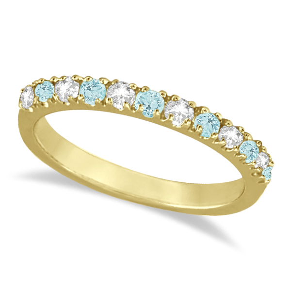 Allurez Diamond and Aquamarine Ring Guard Stackable Band ...