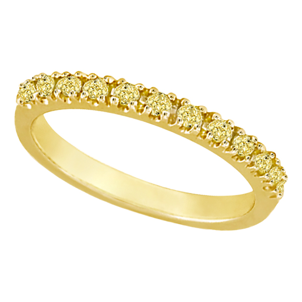 Yellow Canary Diamond Stackable Ring Band 14k Yellow Gold (0.25 ct)