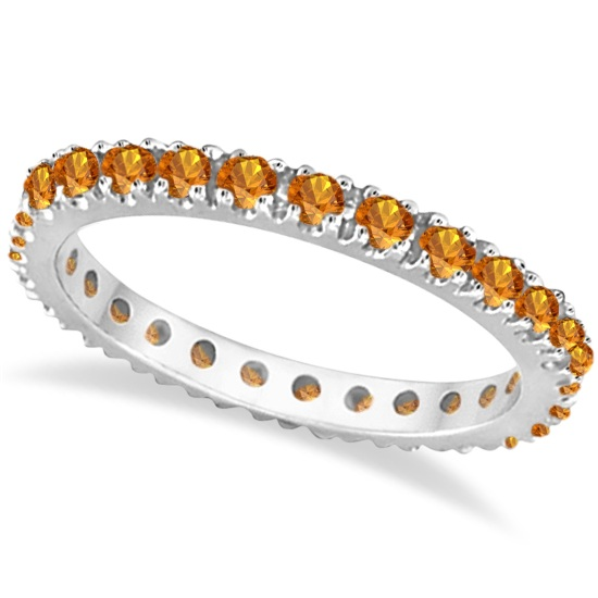 Allurez Diamond and Citrine Eternity Stackable Ring Band 14K White Gold (0.75ct) at Sears.com