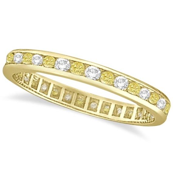 Allurez Channel-Set Yellow and White Diamond Eternity Ring 14k Y Gold (1.00ct) at Sears.com
