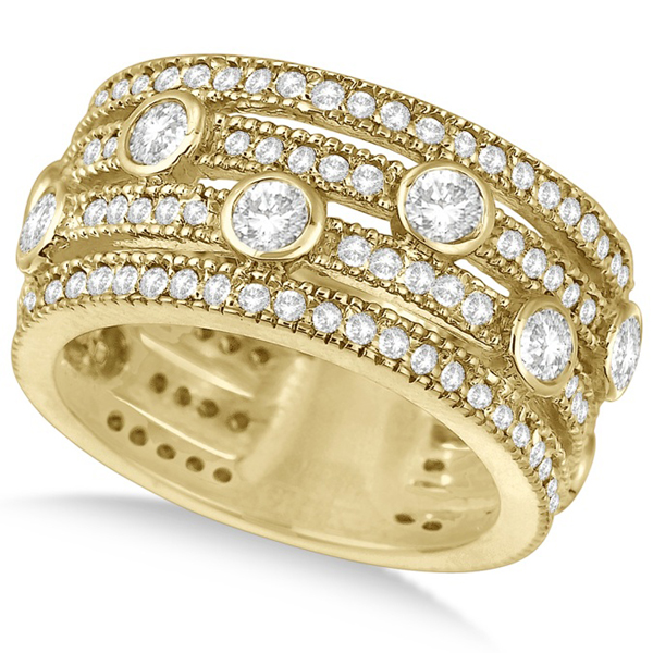 certified band igi wedding rose dp diamond amazon ring com yellow gold bands carat