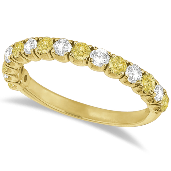 Allurez Yellow Canary and White Diamond Anniveary Band 14k Yellow Gold (1.00ct) at Sears.com