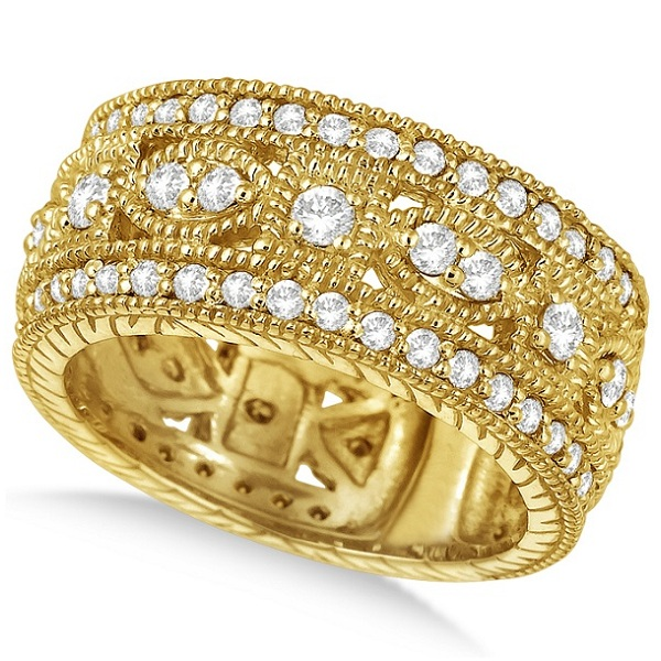 Allurez Vintage Byzantine Wide Band Diamond Ring 14k Yellow Gold (1.37ct) at Sears.com