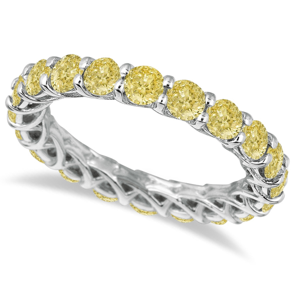 eternity diamond l half rings diamonds gold ring and bands white emerald band yellow