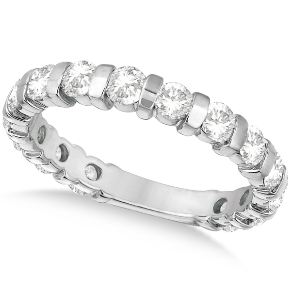 Allurez Bar-Set Diamond Ring Anniveary Band 14k White Gold (1.55ct) at Sears.com