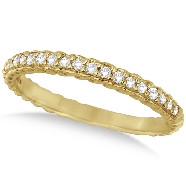 Allurez Thin Band Stackable Prong Set Diamond Ring 14k Yellow Gold (0.20ct) at Sears.com