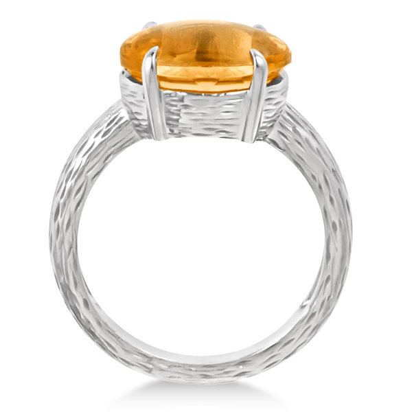 Oval Cut Citrine Cocktail Ring in Sterling Silver (4.50ct)