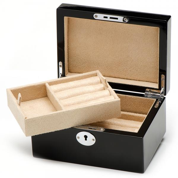 Super Men's Valet Box for Cufflink & Jewelry with Removable Tray and Lock UF71