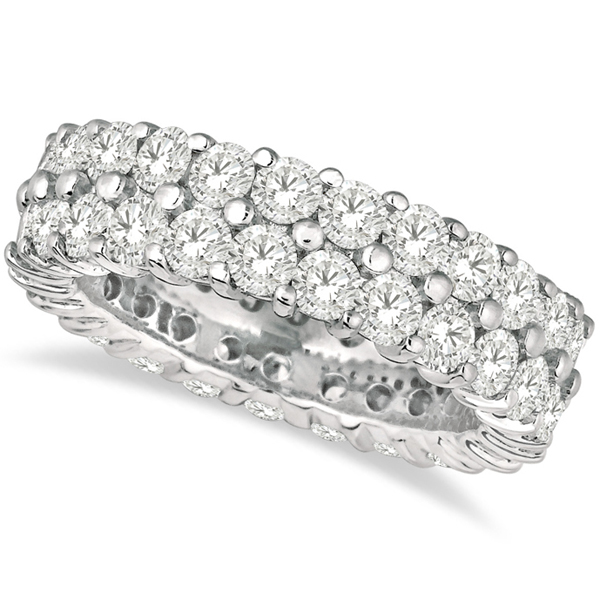 Allurez Two-Row Wide Band Diamond Eternity Ring 18k White Gold (2.50ct) at Sears.com