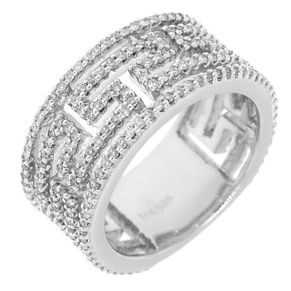 1.10ct 14k White Gold Diamond Versace Band