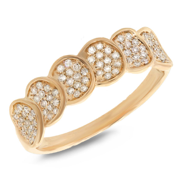 Allurez 0.28ct 14k Yellow Gold Diamond Pave Lady's Ring at Sears.com
