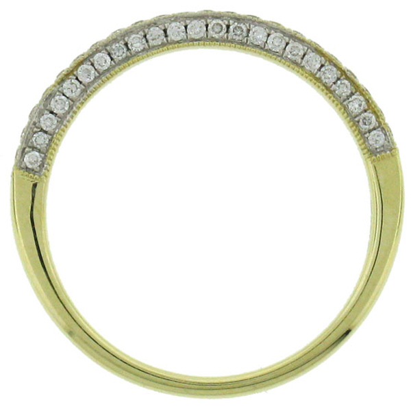 0.30ct 14k Yellow Gold Diamond Lady's Band