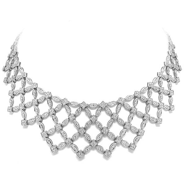 10.42ct 18k White Gold Diamond Fancy Necklace