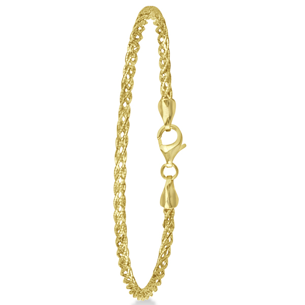 Fashion Rope Chain Bracelet in 14k Yellow Gold