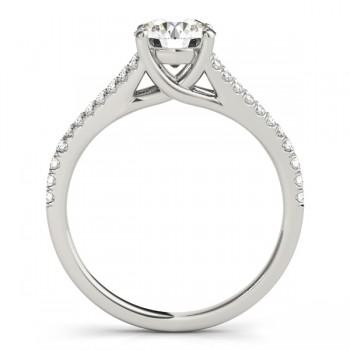 Lucidia Split Shank Multirow Engagement Ring 14k White Gold (0.18ct)